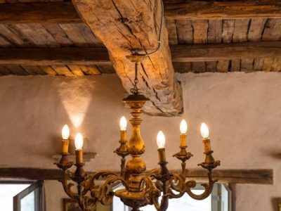 CHANDELIER AND BEAM DETAIL